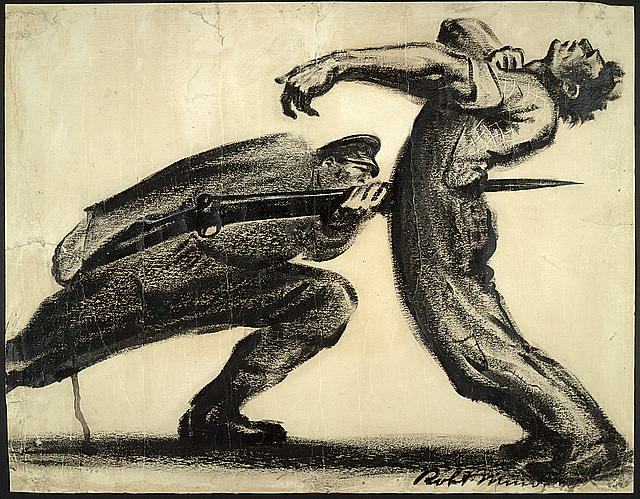 Robert Minor, Pittsburgh 1916, lithographic crayon on paper, 1916